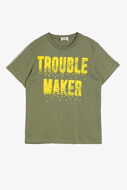 Koton Haki Erkek Çocuk T-Shirt