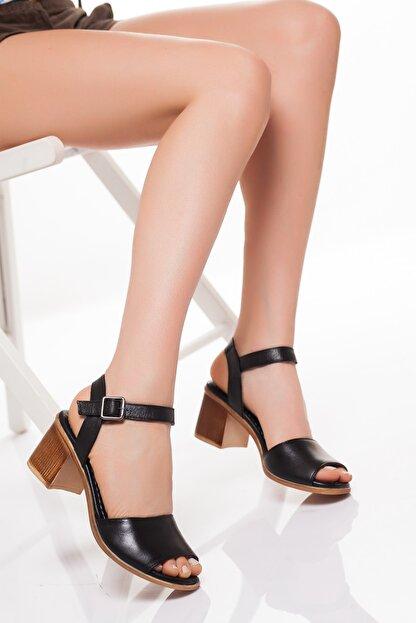 Zeus Sandals Hakiki Deri Kadın 5cm Topuklusandalet