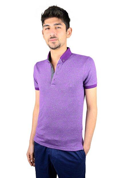 Mcr Polo Yaka T-shirt Mor Renk 36484
