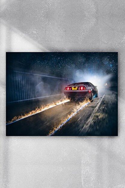 Postermanya De Lorean Araba Posteri 60x90 cm