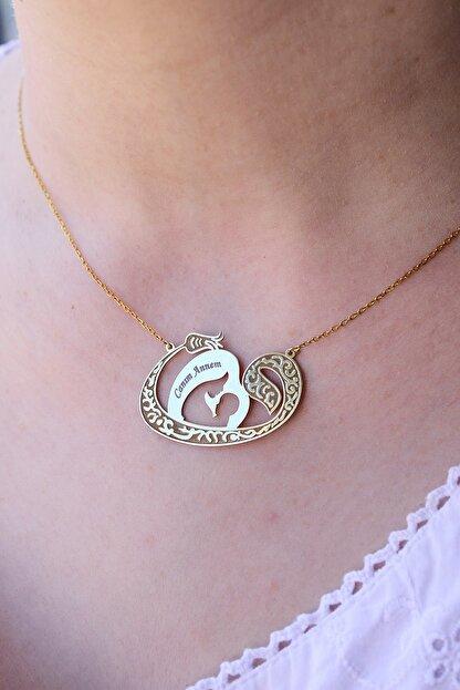 Armes Silver Anneler Günü Hediyesi Vav Canım Annem Yazılı 925 Ayar Gümüş Kolye
