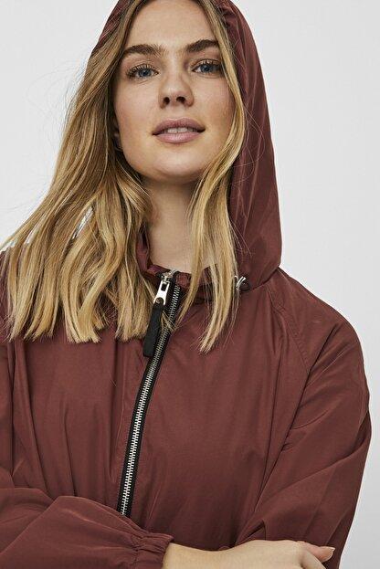 Vero Moda Kadın Bordo Çanta Olabilen Mevsimlik İnce Mont 10222923 VMHARLEM