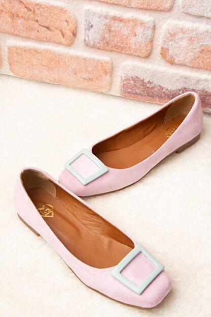 Fox Shoes Lila Su Yeşili Kadın Babet H726452002