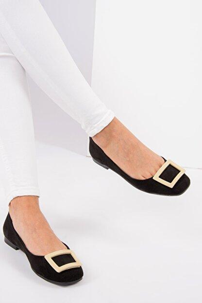 Fox Shoes Siyah Ten Kadın Babet H726452002