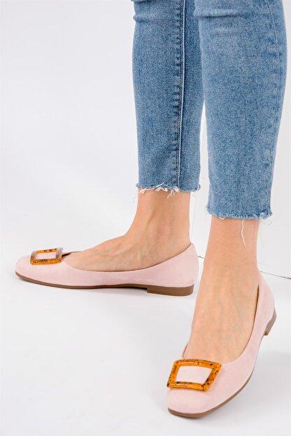 Fox Shoes Pudra/Taba Kadın Babet H726452002
