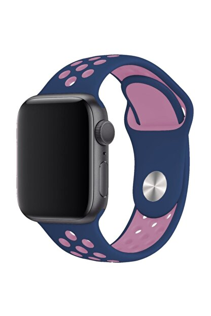 Melefoni Apple Watch 44 mm Spor Delikli Kordon Silikon Kayış