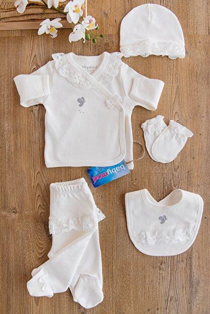 Babymod Kız Bebek Natural Organik 5 Parça Güpürlü Hastane Çıkışı
