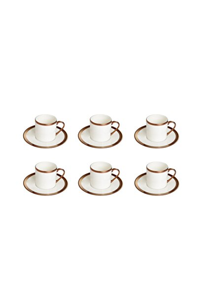 Porland Copper Line Kahve Takımı 12 Parça
