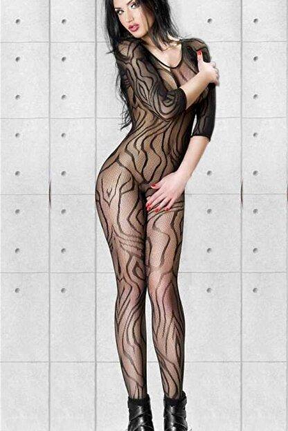 dedo Desenli Özel Belgesi Açık Vücut Çorabı