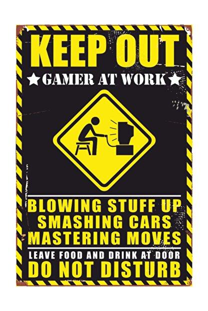 Vintage Ahşap Poster Gamer Oyuncu