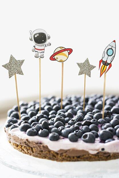 MOONMADE Uzay El Yapımı Kağıt Pasta Süsü