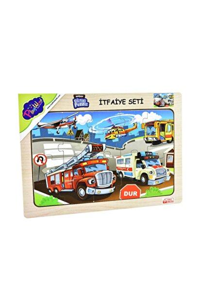 ONYIL OYUNCAK Playwood Ahşap Eğitici Puzzle Itfaiye Seti