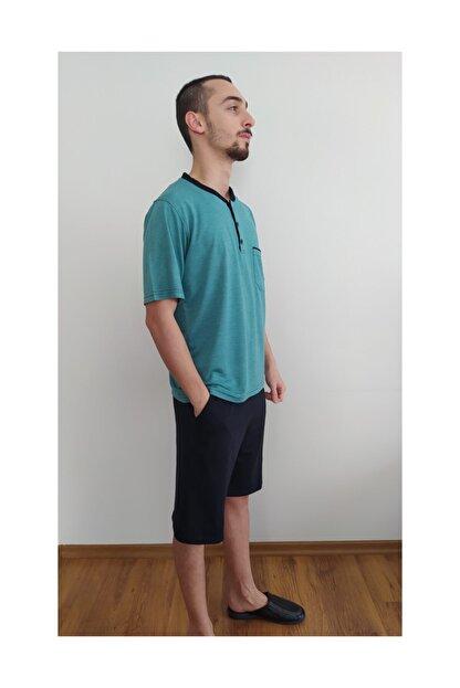 Rams Jakarlı Şortlu Pijama Takımı
