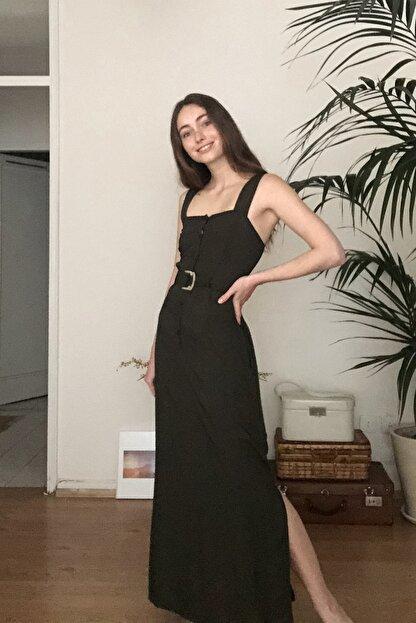 TRENDYOLMİLLA Siyah Kemerli Elbise TWOSS20EL1767