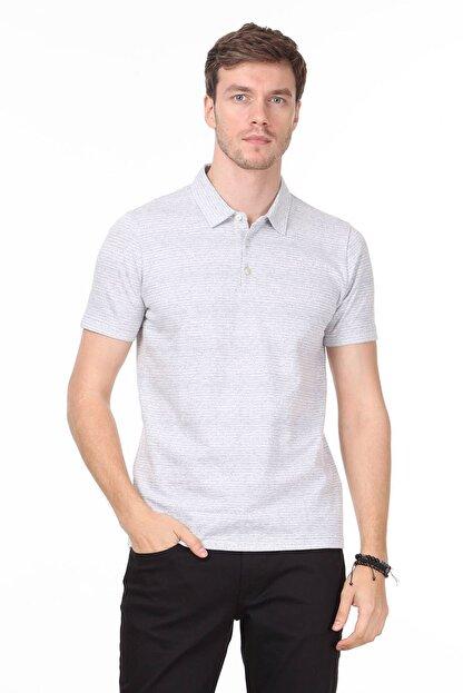 Ramsey Erkek Gri Jakarlı Örme T - Shirt RP10119832