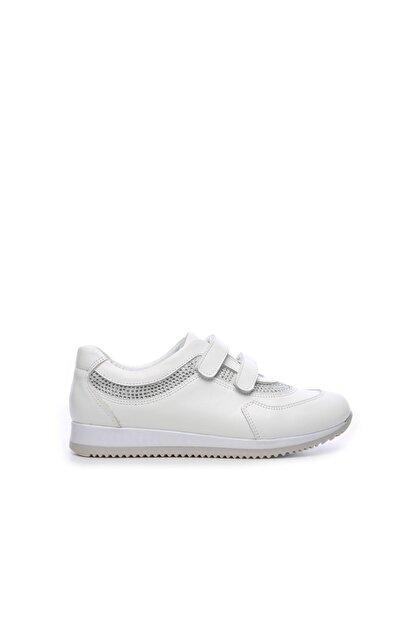 Kemal Tanca Kız Çocuk  Beyaz Deri Ayakkabı 406 3114 CCK 26-36 Y19
