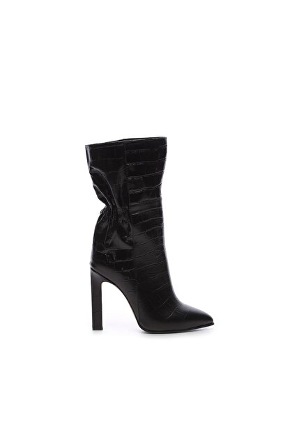Kemal Tanca Hakiki Deri Siyah Kadın Çizme Çizme 299 4807 K02 BN CZM SK20