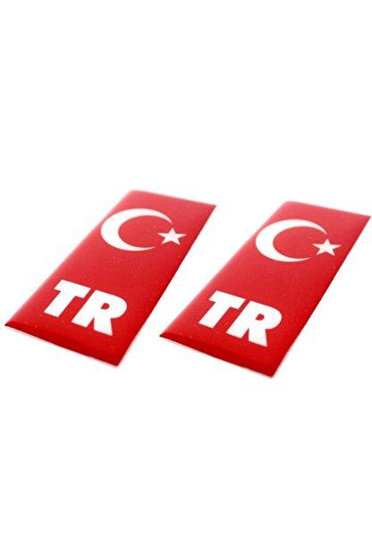 Apex Türk Bayrağı Plaka Damla Sticker Su Geçirmez Solmaz 2 Adet