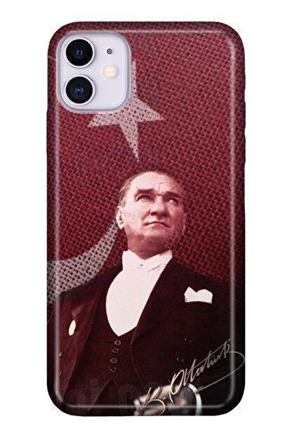 """Cekuonline Iphone 12 Mini 5.4"""" Tıpalı Kamera Korumalı Silikon Kılıf - M.k Atatürk"""