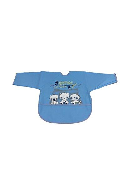 Bebekevi Sıvı Geçirmez Uzun Kollu Mavi Önlük