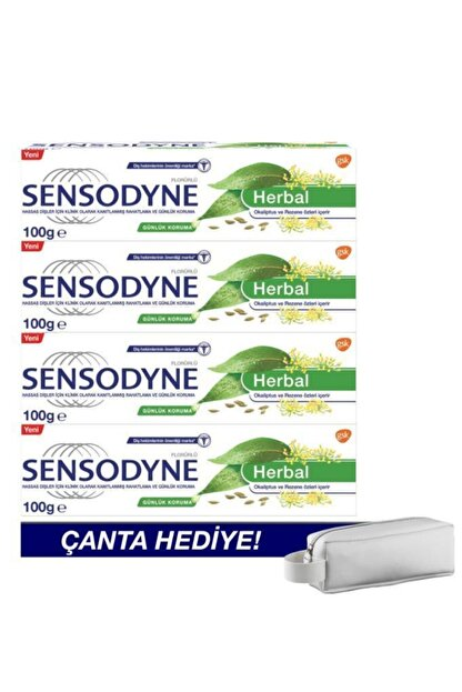 Sensodyne Herbal 100ml X4 - Çanta Hediyeli