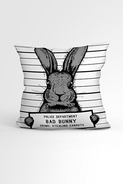 Ejoya Tavşanlı Özel Tasarımlı Modern Dekoratif Yastık Kırlent Kılıfı 88429 43x43cm