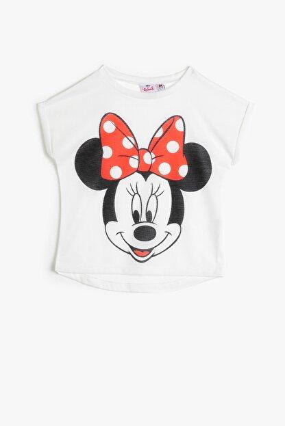 Koton Ekru Kız Çocuk T-Shirt