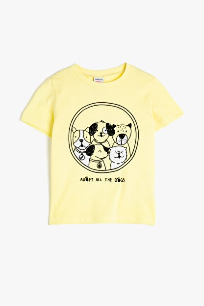 Koton Sarı Erkek Bebek T-Shirt