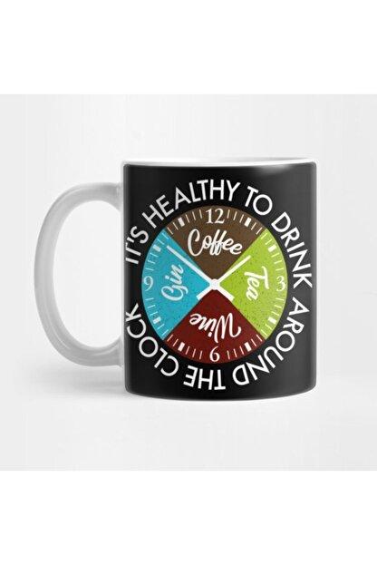 TatFast Coffee Tea Wine Gin Drinks Around The Clock Is Healthy Gift Kupa