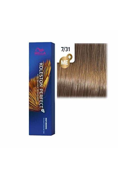 Wella Koleston Perfect Tüp Saç Boyası 7/31 Orta Altın Küllü Sarı 60 Ml