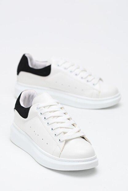 Ayakkabı Modası Kadın Siyah Beyaz Sneaker Spor Ayakkabı  5007-20-110001