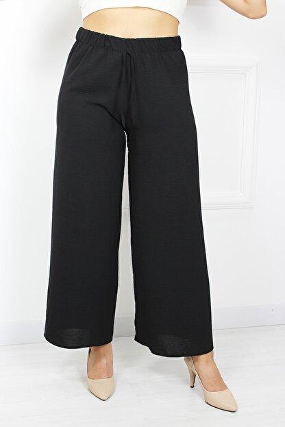 UGİMPOL Kadın Siyah Bol Paça Pantolon