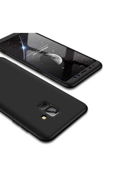 Dijimedia Galaxy A8 2018 Kılıf 360 3 Parçalı Rubber Koruma