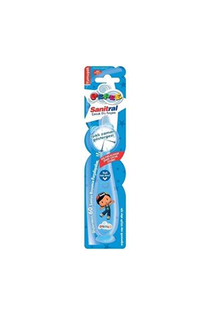Sanitral Mavi EI Işıklı Diş Fırçası