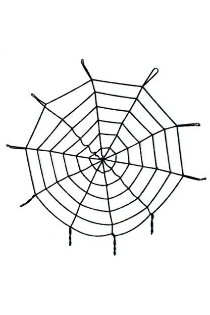 Samur Halloween Cadılar Bayramı Örümcek Ağ Dekor Siyah 2.50 Metre