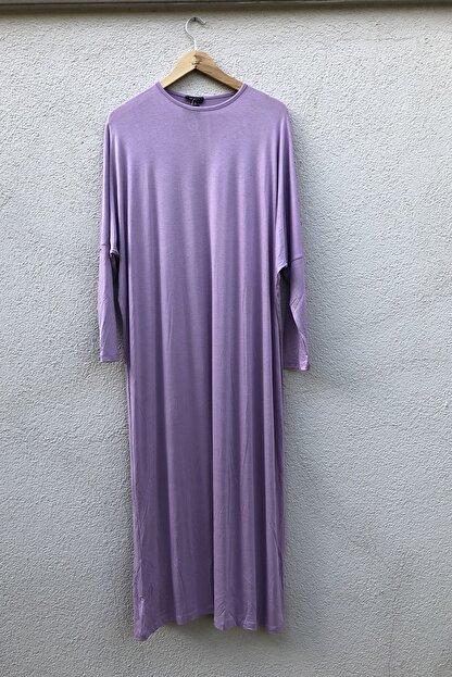 Liva Basıc Penye Elbise Lila