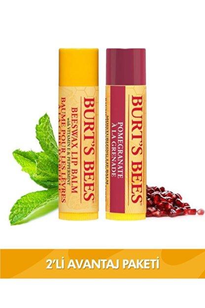 Burt's Bees Beeswax Dudak Bakım Kremi + Nar Aromalı Dudak Bakım Kremi Avantaj Seti
