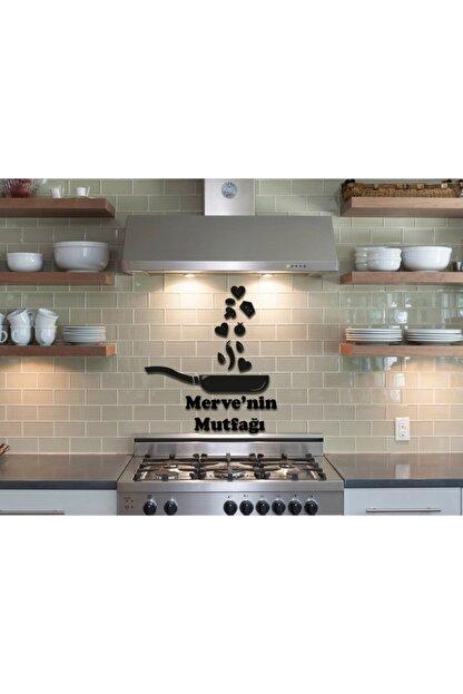 LazerAtölye Ahşap Siyah Dekoratif Tava Mutfak Süsü