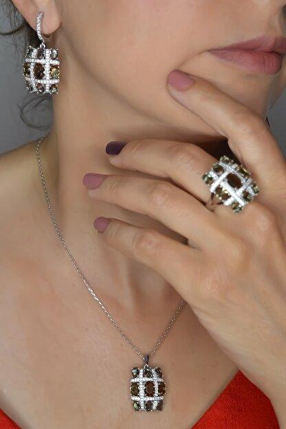 MELODİ GÜMÜŞ Renk Değiştiren Zultanit Taşlı Gümüş Set