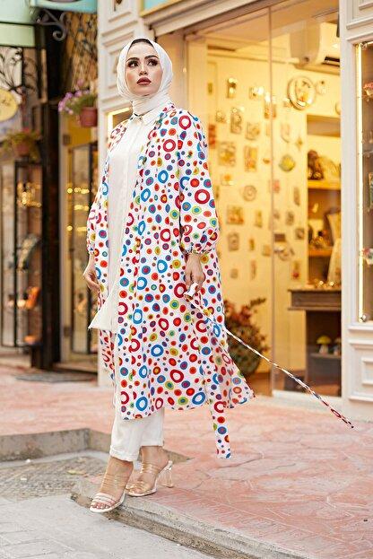 Elifnur Kadın Renkli Kimono 8946-13