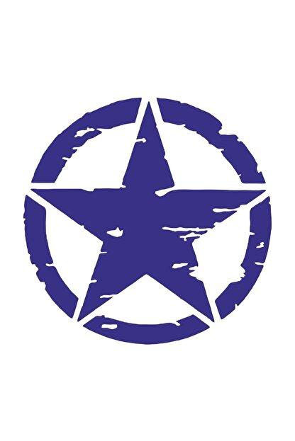 Sticker Fabrikası Askeri Yıldız Motosiklet Off Road Offroad U.s Army Sticker 00677 8x8 Cm