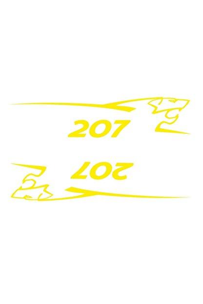 Sticker Fabrikası Peugeot 207 2 Adet Takım Oto Sticker 00688 25x5,5 Cm