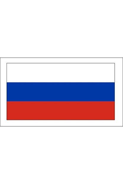 Sticker Fabrikası Rus Bayrağı Rusya Bayrağı Sticker 00710 13x7,5 Cm