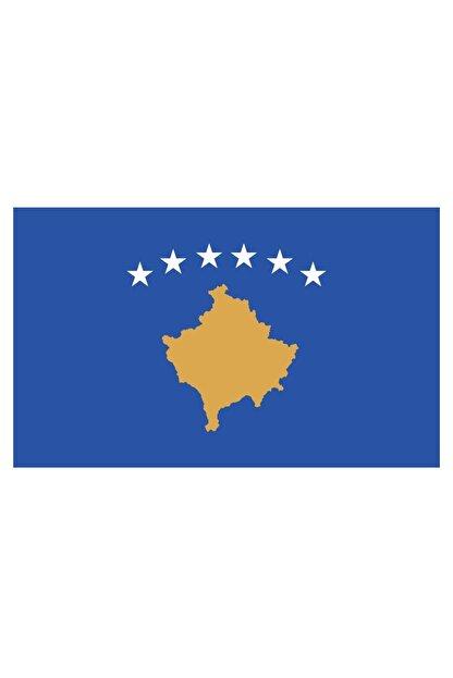 Sticker Fabrikası Kosova Bayrağı Sticker 00716 9x5 Cm