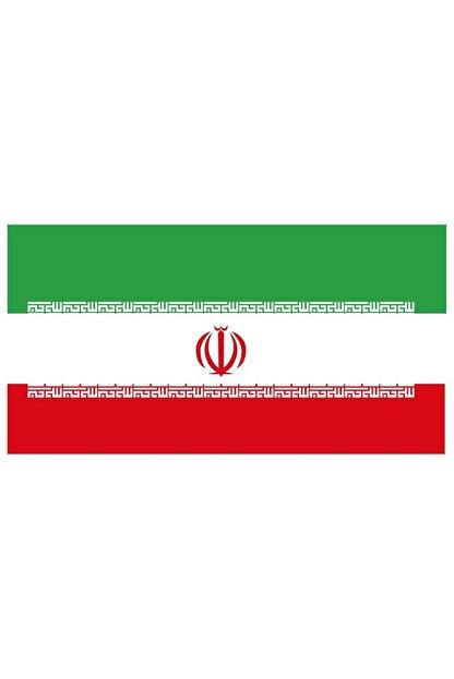 Sticker Fabrikası Iran Bayrağı Sticker 00704 9x5 Cm