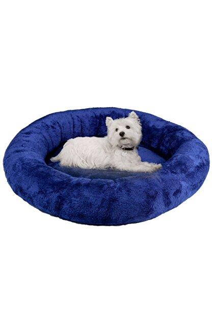 BYPET Peluş Kedi & Köpek Yatağı Büyük Boy Lacivert Peluş Kedi Minderi 65x65cm
