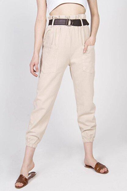 Addax Kadın Bej Cep Detaylı Pantolon PN4139