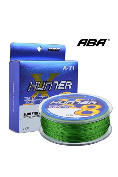 ABA Hunter X8 8 Kat Örgü Ip Misina 300 Mt Yeşil Renk 0.29 Mm