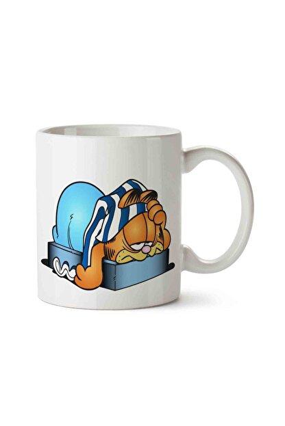 MET DESİGN Garfield Odie Cartoon Clip Art Porselen Kupa Bardak