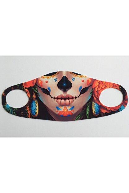 WANNA Yıkanabilir, Baskılı, Dikişsiz Kumaş Maske